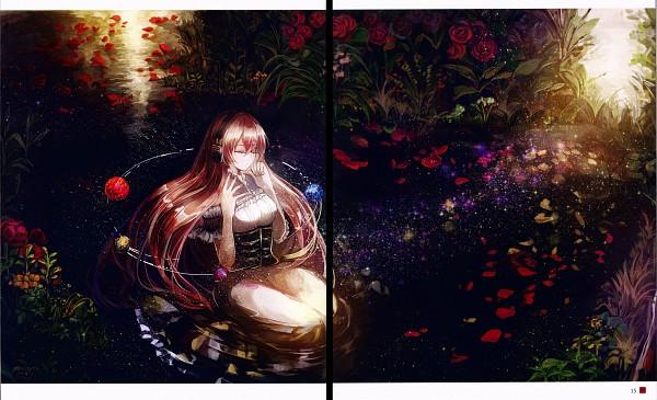 Tags: Anime, Vima, Nagareru Hikari Wa Hanayaka Ni, VOCALOID, Megurine Luka, Sitting In Water, Comic Market, Fanart, Scan, Comic Market 87, Wallpaper