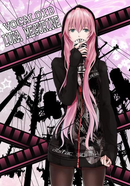 Tags: Anime, mille, VOCALOID, Megurine Luka, Utility Pole, Pixiv, Mobile Wallpaper, Fanart