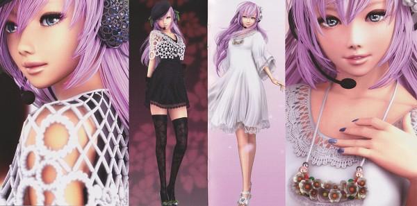 Tags: Anime, Ikedan, VOCALOID, Megurine Luka, CD (Source), 3D, Scan, Facebook Cover