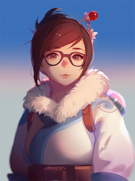 Tags: Anime, Asukaziye, Overwatch, Mei (Overwatch), Pixiv, Twitter, Fanart, Fanart From Pixiv, Mobile Wallpaper, PNG Conversion
