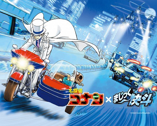 Tags: Anime, Aoyama Goushou, Meitantei Conan, Magic Kaito, Edogawa Conan, Kuroba Kaito, Kaitou Kid, Official Art, Official Wallpaper, Wallpaper, Manga Color, Detective Conan