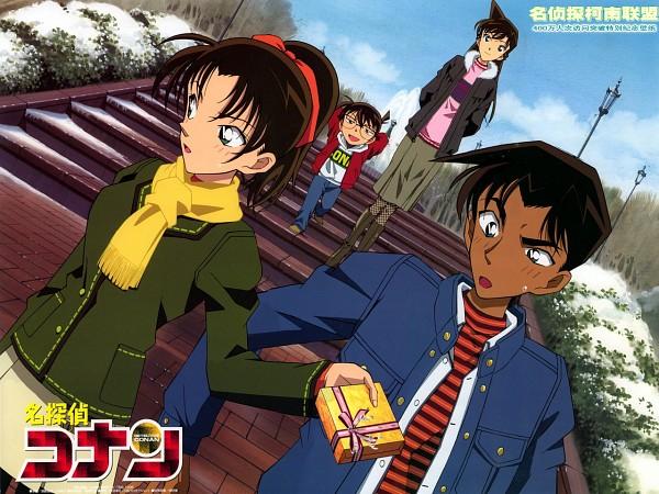 Tags: Anime, Meitantei Conan, Edogawa Conan, Touyama Kazuha, Hattori Heiji, Mouri Ran, Official Art, Edited, Wallpaper, Fanmade Wallpaper, Detective Conan