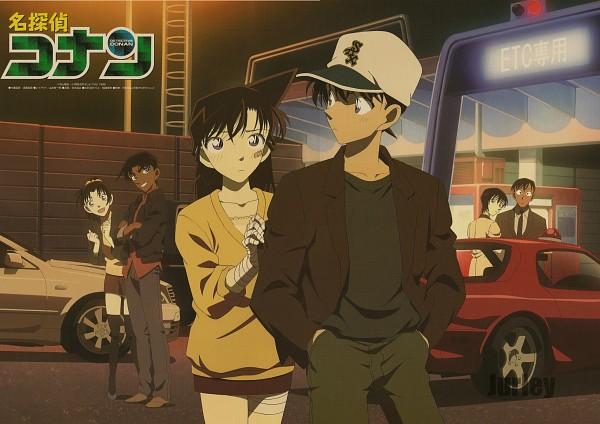 Tags: Anime, Meitantei Conan, Takagi Wataru, Hattori Heiji, Kudou Shinichi, Touyama Kazuha, Mouri Ran, Satou Miwako, Brown Skirt, Scan, Official Art, Detective Conan