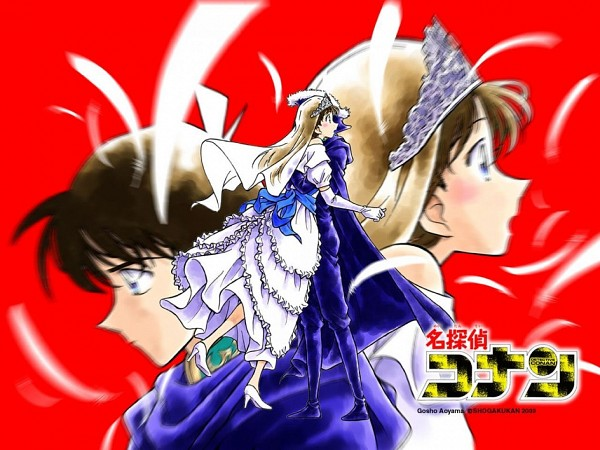 Tags: Anime, Aoyama Goushou, Meitantei Conan, Kudou Shinichi, Mouri Ran, Motion Blur, Official Art, Official Wallpaper, Wallpaper, Detective Conan