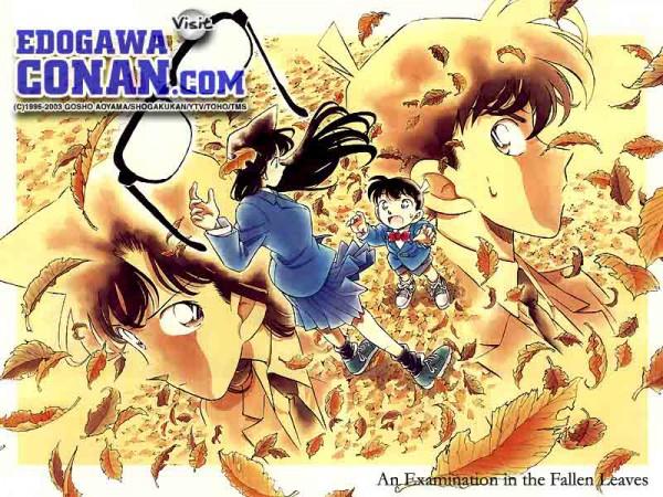 Tags: Anime, Aoyama Goushou, Meitantei Conan, Kudou Shinichi, Mouri Ran, Edogawa Conan, Edited, Wallpaper, Fanmade Wallpaper, Detective Conan