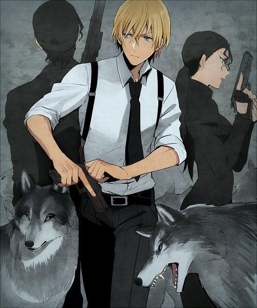 Tags: Anime, Pixiv Id 7411932, Meitantei Conan, Akai Shuuichi, Mizunashi Rena, Amuro Tooru, Pixiv, Fanart, Detective Conan