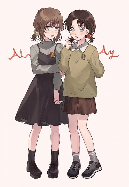 Tags: Anime, Zarutsu, Meitantei Conan, Yoshida Ayumi, Haibara Ai, Fanart, Pixiv, Fanart From Pixiv, Detective Conan