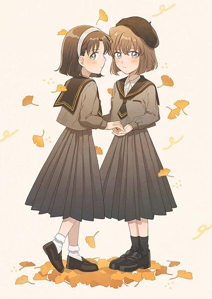 Tags: Anime, Zarutsu, Meitantei Conan, Yoshida Ayumi, Haibara Ai, Pixiv, Fanart From Pixiv, Fanart, Detective Conan