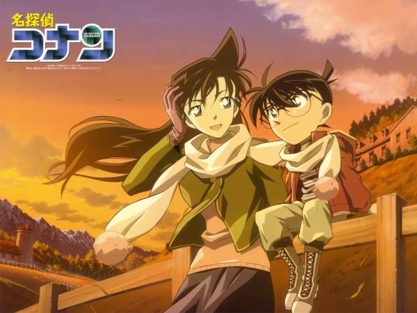 Tags: Anime, Meitantei Conan, Edogawa Conan, Mouri Ran, Fanmade Wallpaper, Official Art, Wallpaper, Edited, Detective Conan
