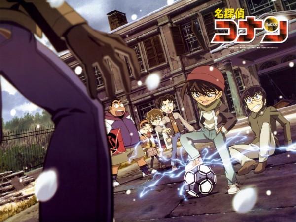 Tags: Anime, Meitantei Conan, Tsuburaya Mitsuhiko, Haibara Ai, Yoshida Ayumi, Edogawa Conan, Hondou Eisuke, Official Art, Wallpaper, Fanmade Wallpaper, Edited, Detective Conan