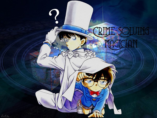 Tags: Anime, Aoyama Goushou, Meitantei Conan, Magic Kaito, Kaitou Kid, Edogawa Conan, Kuroba Kaito, Edited, Wallpaper, Fanmade Wallpaper, Detective Conan