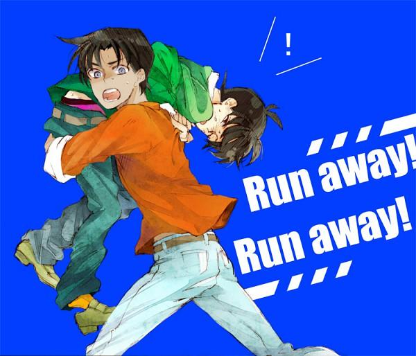 Tags: Anime, Pixiv Id 64405, Meitantei Conan, Kudou Shinichi, Hattori Heiji, Pixiv, Fanart, Detective Conan