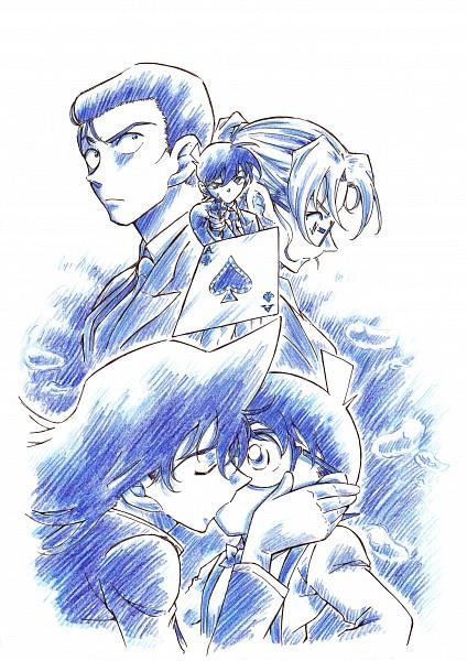 Tags: Anime, Okada Anmitsu, Meitantei Conan, Edogawa Conan, Kudou Shinichi, Mouri Kogoro, Kisaki Eri, Mouri Ran, Fanart From Pixiv, Pixiv, Mobile Wallpaper, Fanart, Detective Conan