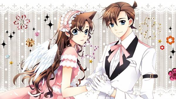 Tags: Anime, MonicA (Artist), Meitantei Conan, Mouri Ran, Kudou Shinichi, Fanart From Pixiv, Fanart, Pixiv, Facebook Cover, Detective Conan