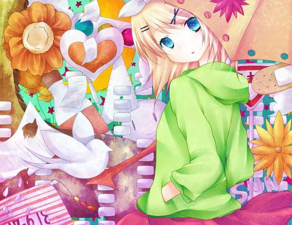 Tags: Anime, Siguri, Project DIVA F, VOCALOID, Kagamine Rin, Traffic Light, Project DIVA Melancholy, Pixiv, Melancholic, Fanart