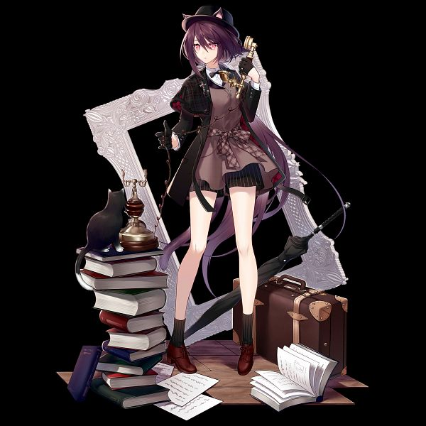 Tags: Anime, Hitotsuri Riko, HyperGryph, Arknights, Melantha, Official Art