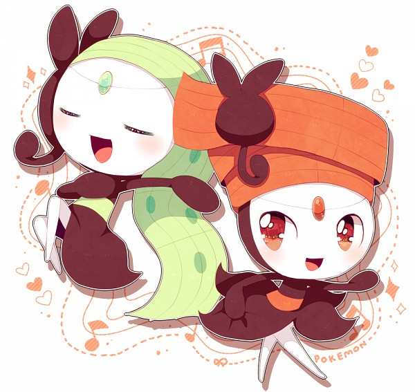 Tags: Anime, Haru (kyo413), Pokémon, Meloetta, Legendary Pokémon, Pixiv, Fanart
