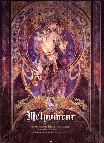 Tags: Anime, Radu, Melpomene, Detailed, Art Nouveau, Scan, Greek Myths, Mobile Wallpaper, The Muses