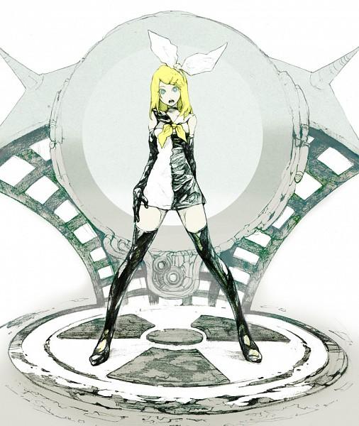 Tags: Anime, Niji (Pixiv 355604), VOCALOID, Kagamine Rin, Fanart, Meltdown, Pixiv