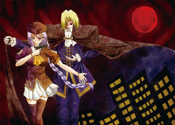 Tags: Anime, French-Bread (Studio), TYPE-MOON, Melty Blood, Sion Eltnam Atlasia, Night of Wallachia, Red Moon, Chisamikan