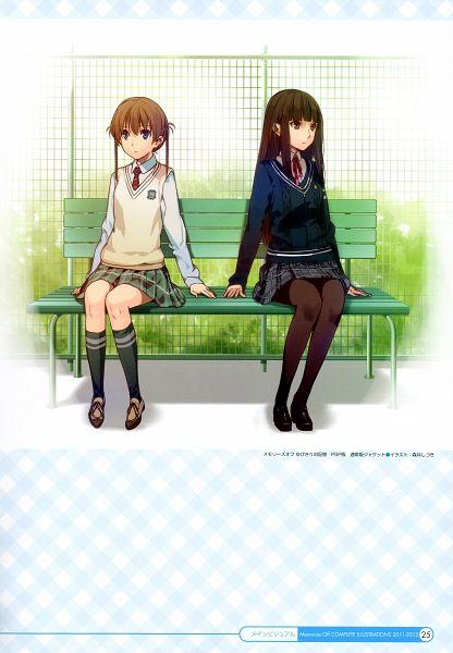 Tags: Anime, Morii Shizuki, Memories Off Complete Illustrations 2011-2013, Memories Off: Yubikiri no Kioku, Amakawa Chinatsu, Nagumo Kasumi, Comic Market, Scan, Comic Market 85, Official Art