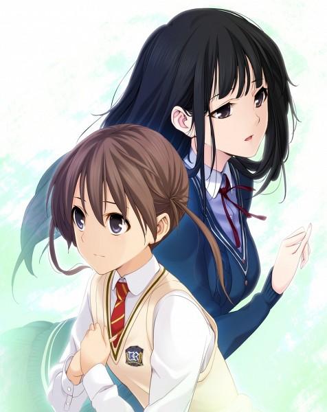 Tags: Anime, Memories Off Series, Memories Off: Yubikiri no Kioku, Amakawa Chinatsu, Nagumo Kasumi, Official Art