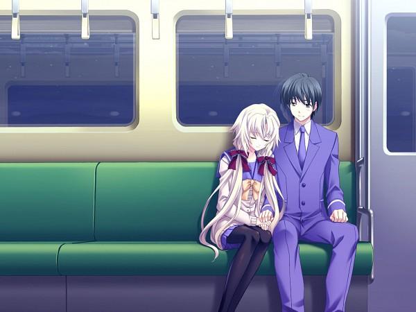 Tags: Anime, Memories Off Series, Memories Off 6, Shio Tsukamoto, Kagamigawa Chloe, Train Interior