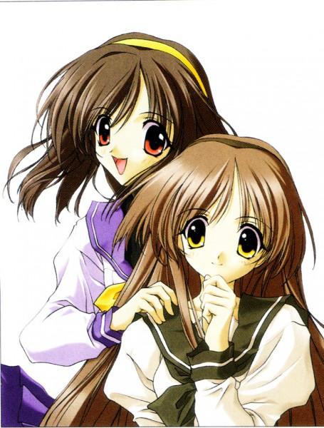 Tags: Anime, Memories Off Series, Memories Off, Imasaka Yue, Hizuki Ayaka, Self Scanned, Official Art
