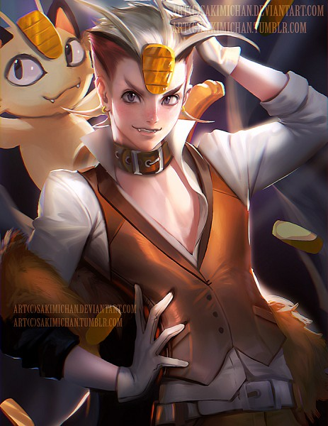 Tags: Anime, Sakimichan, Pokémon, Meowth, deviantART, Tumblr, Fanart From DeviantART, Fanart