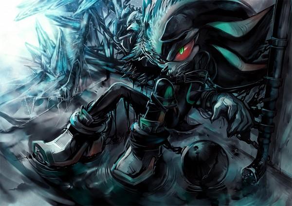 Tags: Anime, Mri, Sonic '06, Sonic the Hedgehog, Mephiles the Dark, Red Sclera, Fanart, deviantART, Pixiv, Fanart From Pixiv