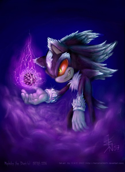Tags: Anime, Nocturnalmoth, Sonic '06, Sonic the Hedgehog, Mephiles the Dark, Fanart, Fanart From DeviantART, deviantART, Mobile Wallpaper
