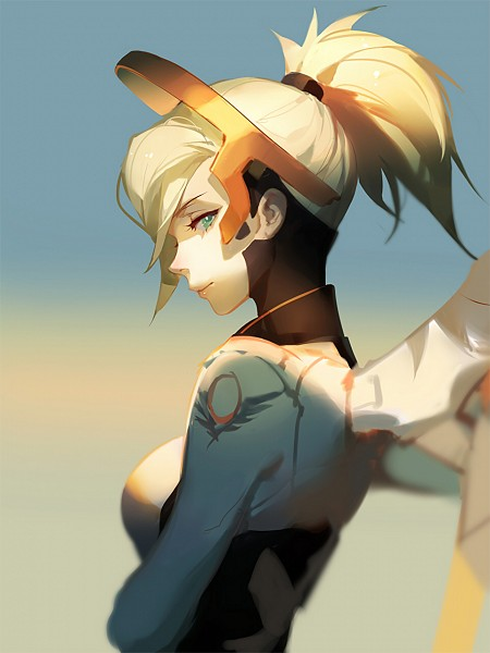 Tags: Anime, Asukaziye, Overwatch, Mercy (Overwatch), Mechanical Wings, Robotic, PNG Conversion, Fanart, Twitter, Fanart From Pixiv, Pixiv, Mobile Wallpaper