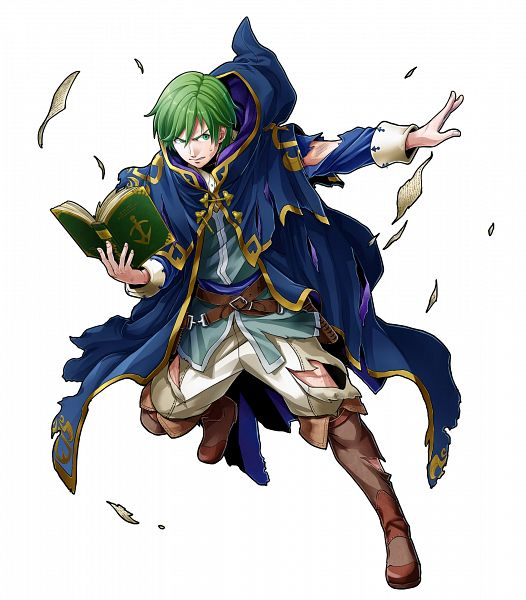 Tags: Anime, Mizuno Kana, Intelligent Systems, Fire Emblem Heroes, Merric (Fire Emblem), Official Art, PNG Conversion