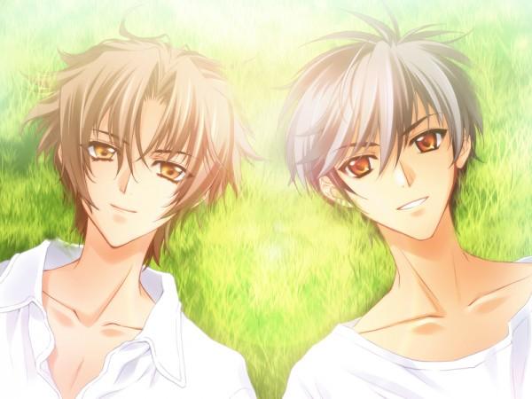 Tags: Anime, CARNELIAN, Messiah - Paranoia Paradox, Messiah, Sasamori Ryouta, Katsuragi Takuto, Official Art, CG Art