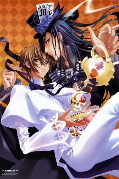Tags: Anime, CARNELIAN, Alice in Wonderland, Messiah - Paranoia Paradox, Messiah, Katsuragi Takuto, Mad Hatter, Ogiwara Shusei, Mobile Wallpaper
