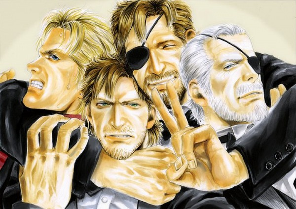 Tags: Anime, Pixiv Id 1186692, Metal Gear Solid, Liquid Snake, Solid Snake, Big Boss, Solidus Snake