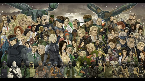 Tags: Anime, Pixiv Id 1186692, Metal Gear Solid, Old Snake, Hal Emmerich, Raiden, Big Boss, Gray Fox, Solid Snake, Solidus Snake, Sunny Emmerich, Liquid Snake, Meryl Silverburgh