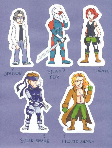 Tags: Anime, Metal Gear Solid, Hal Emmerich, Gray Fox, Meryl Silverburgh, Liquid Snake, Solid Snake, Otacon