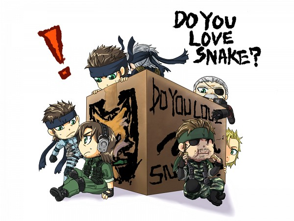 Tags: Anime, Metal Gear Solid, Liquid Snake, Old Snake, Big Boss, Solid Snake, Solidus Snake, Pixiv, Fanart From Pixiv, Fanart