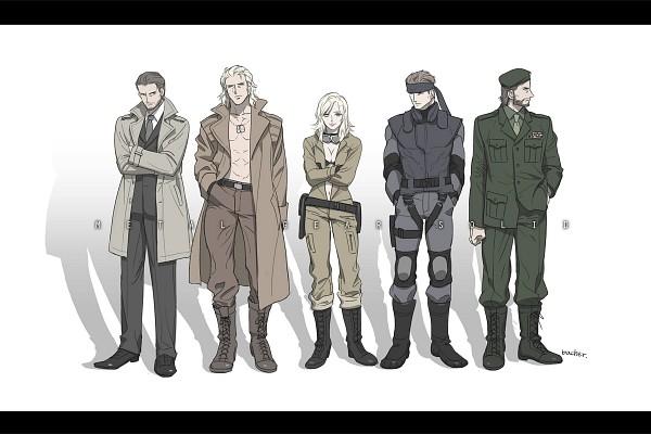 Tags: Anime, Pixiv Id 4192645, Metal Gear Solid, Eva (Metal Gear Solid), Big Boss, Solid Snake, Solidus Snake, Liquid Snake, Koukaku Kidoutai GHOST IN THE SHELL (Parody), Fanart, Pixiv, Fanart From Pixiv