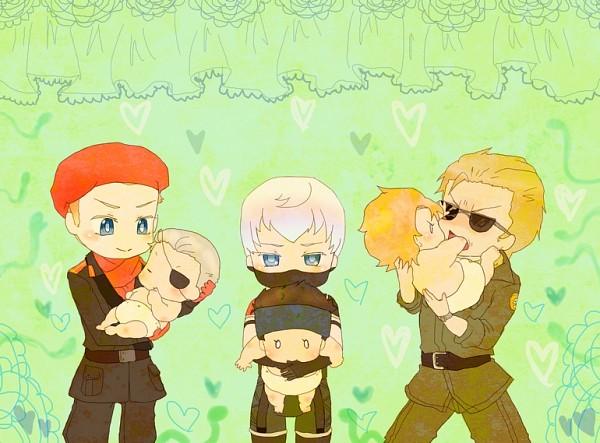 Tags: Anime, KONAMI, Metal Gear Solid, Gray Fox, Solidus Snake, Liquid Snake, Solid Snake, Revolver Ocelot, Kazuhira Miller, Fanart, Fanart From Pixiv, Pixiv