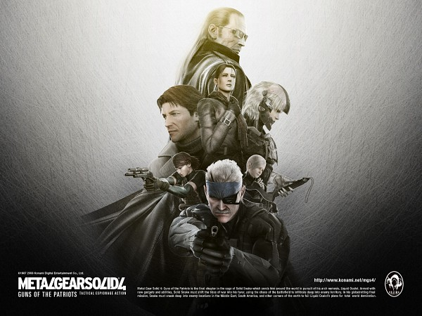 Tags: Anime, Metal Gear Solid, Hal Emmerich, Solid Snake, Sunny Emmerich, Meryl Silverburgh, Liquid Ocelot, Old Snake, Naomi Hunter, Raiden, Wallpaper