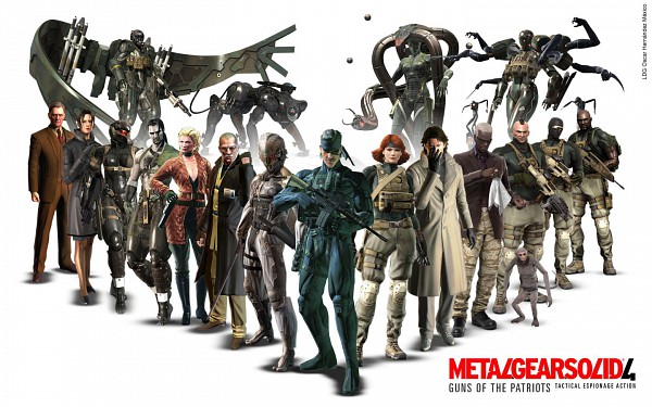 Tags: Anime, Metal Gear Solid, Meryl Silverburgh, Crying Wolf, Old Snake, Screaming Mantis, Raging Raven, Raiden, Eva (Metal Gear Solid), Laughing Octopus, Solid Snake, Revolver Ocelot, Hal Emmerich