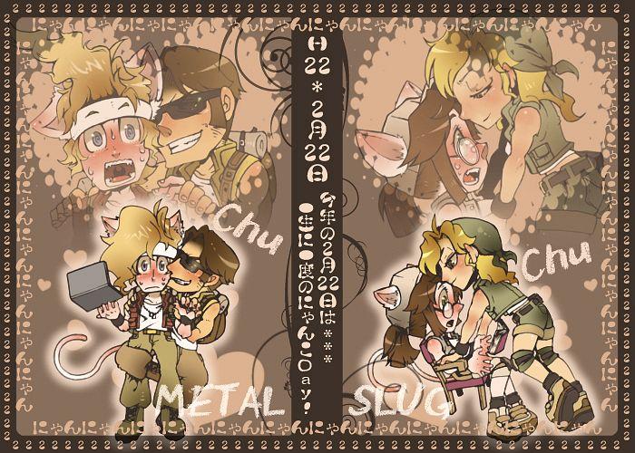 Tags: Anime, Pixiv Id 699519, SNK Playmore, Metal Slug, Marchrius Dennis Rossi, Tarma Roving Iii, Fiolina Germi, Kasamoto Eri, Surprise Kiss, Fanart