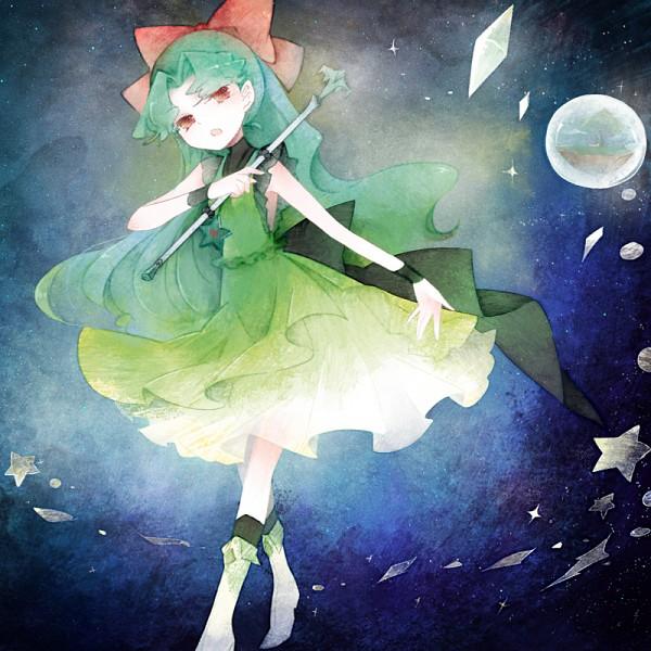 Tags: Anime, Sdfhn, Princess Comet, Meteor (Princess Comet), Green Footwear, Fanart From Pixiv, Pixiv, Fanart