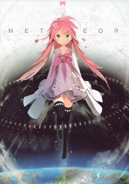 Tags: Anime, Anmi, VOCALOID, Hatsune Miku, Meteor (Song), Scan, Mobile Wallpaper