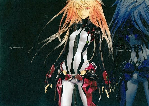 "Tags: Anime, redjuice, BEATLESS, SQUAD: Concept Desings for ""BEATLESS"", Methode, Artbook Cover, Comic Market 80, Scan"
