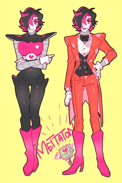 Tags: Anime, Piyo (ppotatto), Undertale, Mettaton EX, Mettaton, Red Pants, Mobile Wallpaper, PNG Conversion