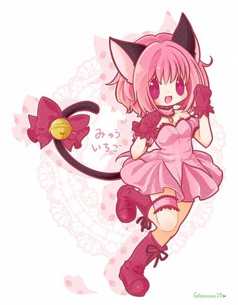 Tags: Anime, Pixiv Id 3207879, Tokyo Mew Mew, Mew Ichigo, Momomiya Ichigo, Tail Ornament, Fanart From Pixiv, Pixiv, Fanart