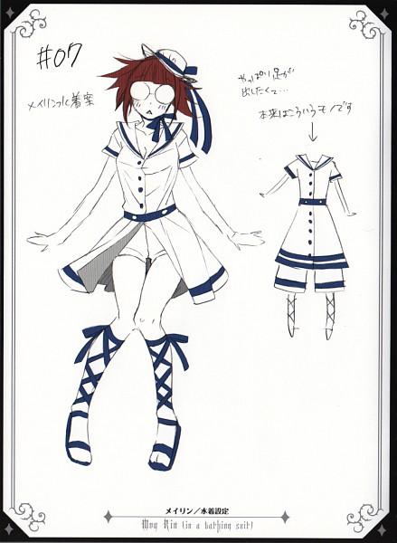 Tags: Anime, Toboso Yana, Kuroshitsuji, Mey-Rin, Character Sheet, Official Art
